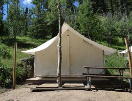 Aspen Acres Campground Outfitter Tents - Glamping in Colorado - San Isabel Lake