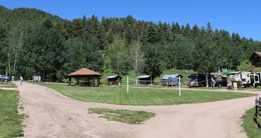 Aspen Acres Campground - Colorado Camping - Gazebo - Volleyball