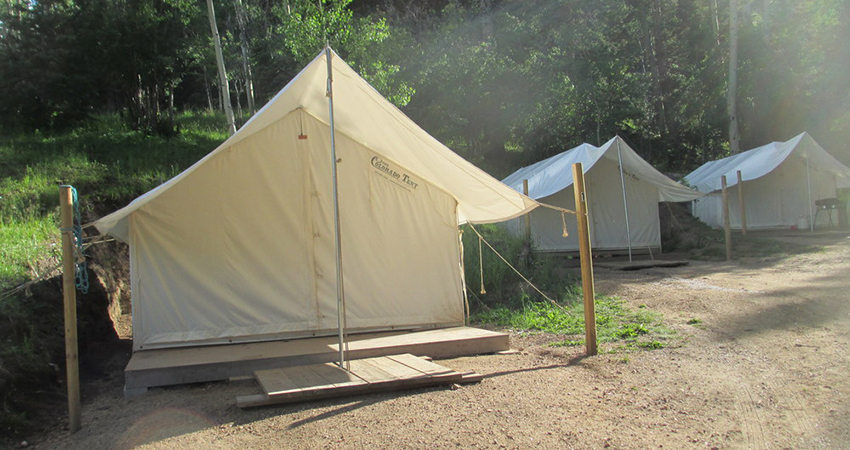 Aspen Acres Campground Rye Colorado - from Camping to Glamping - Outfitter Tents