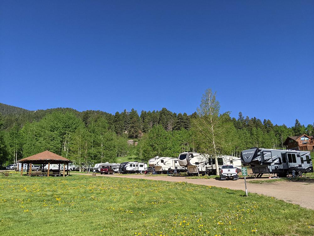Aspen Acres Campground Large pull through sites 27-37
