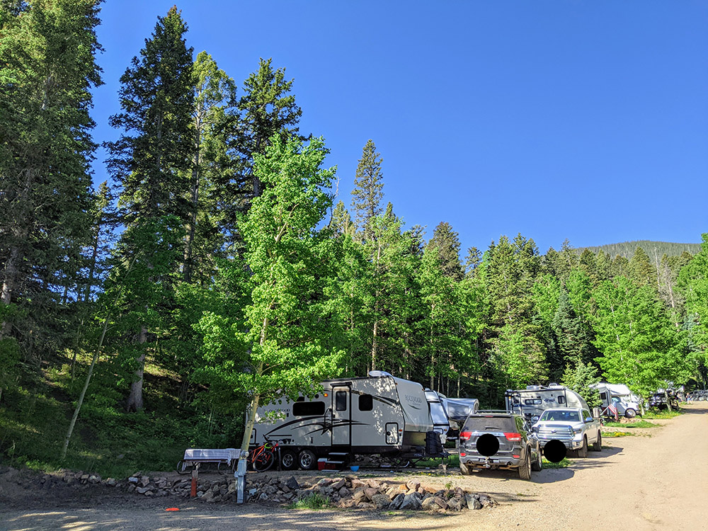 Aspen Acres Campground site back in sites 8-20