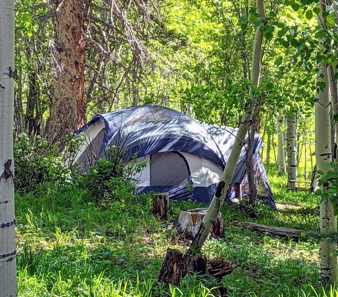 Aspen Acres Tent Camping - Rye Colorado