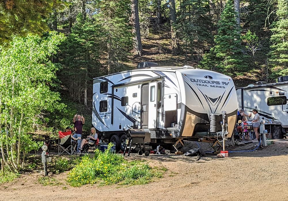 site 19 aspen acres campground