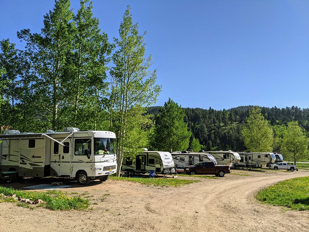Aspen Acres Campground Large pull through sites 29-37