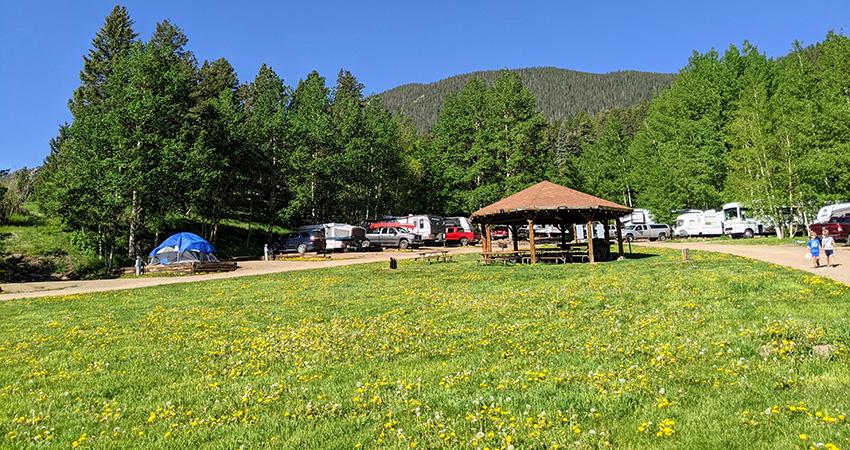 Aspen Acres Campground - Colorado Camping - Gazebo