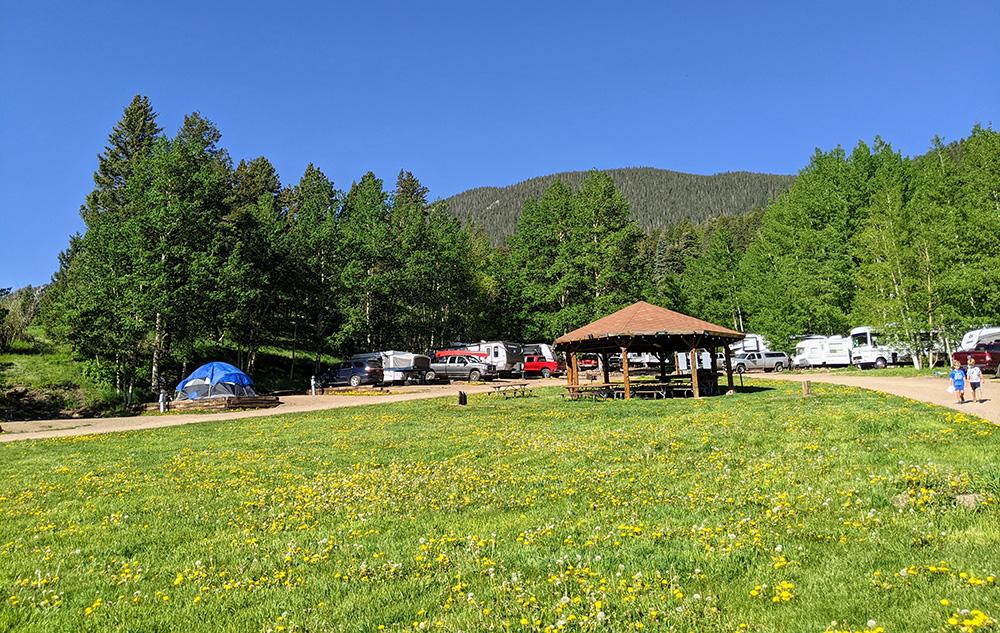 Aspen Acres Campground Gazebo - Field